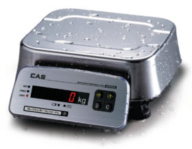 Настольные весы CAS FW с влагозащитой IP69K. С первичной поверкой.