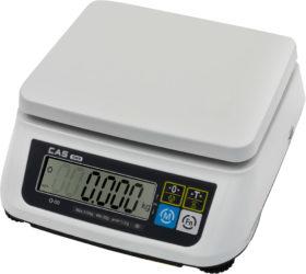 Настольные порционные весы CAS SWN двухдиапазонные с опциональным RS-232 или USB. С первичной поверкой.
